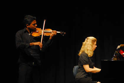 Recital de aluno de violino